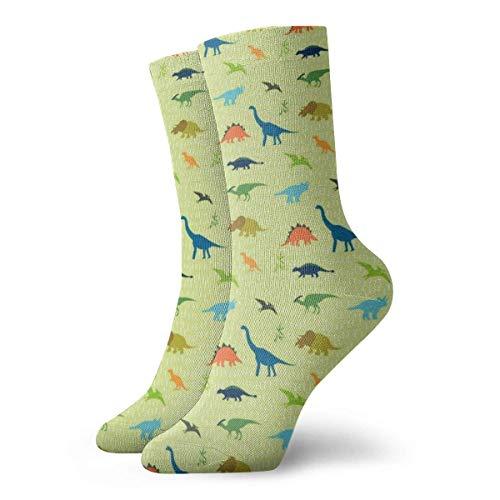 Kevin-Shop Dinosaurier Silhouette Adult Short Socks Nette Socken für Mens Womens Yoga Wandern Radfahren Laufen Fußball Sportarten