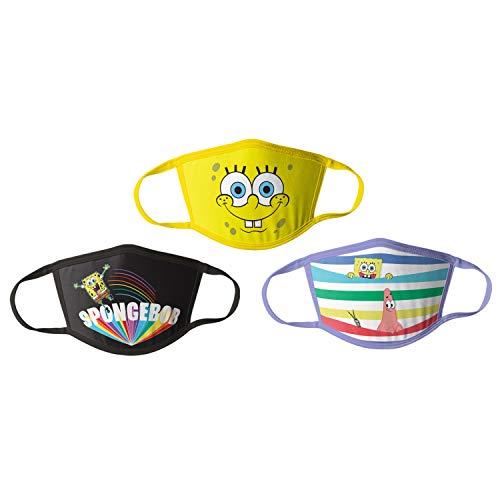 Spongebob Kids Cloth Face Masks Pack of 3 Multipack Washable Reusable Non-Medical