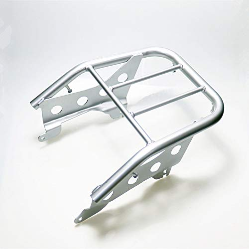 BHYShop Motorcycle Rear Luggage Rack Back Cargo Support Bracket Holder For Yamaha TTR250 TT-R250 TTR Dirt Bike Off Road (Silver)