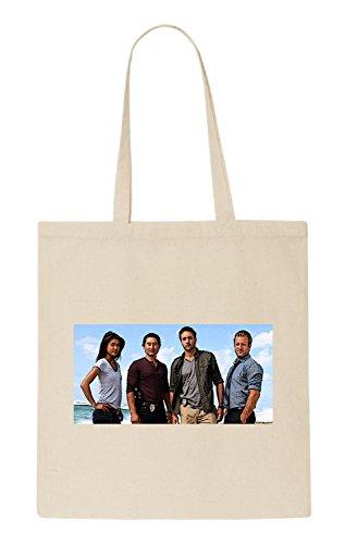 Hawaii Five-0 Funny natürliche organische Tasche / natural organic Bag (Beige