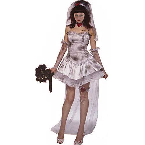 DEXIAOBANG Uniforme Sexy del Gioco della Strega del Diavolo Caricata Sposa del Fantasma del Costume Sexy della Strega del Costume di Halloween delle Signore Europee Ed Americane-s