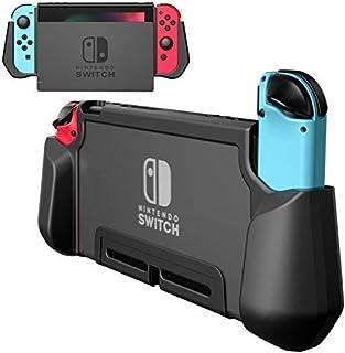 PZOZ Nintendo Switch用 ケース PC+TPU カバー ニンテンドー 指紋防止 落下防止 アンチスクラッチ 2017 任天堂 ジョイコン ドック Joy-Conに対応アクセサリー (ブラック)
