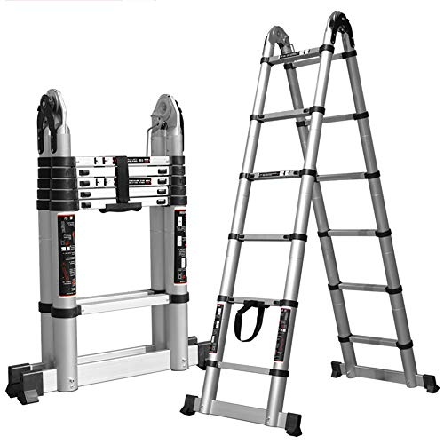 Xiao Jian- technische ladder sterke aluminiumlegering multifunctionele ladder Herringbone draagbare verlengladder drie soorten, verschillende maten optionele belasting 150 kg opstapkruk