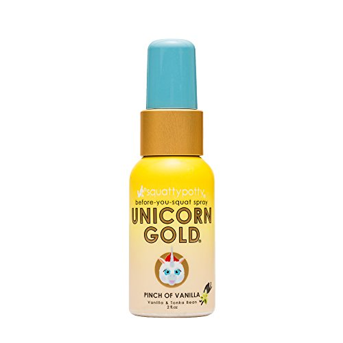 2 Fl Oz Squatty Potty Unicorn Gold Toilet Spray, Pinch Of Vanilla