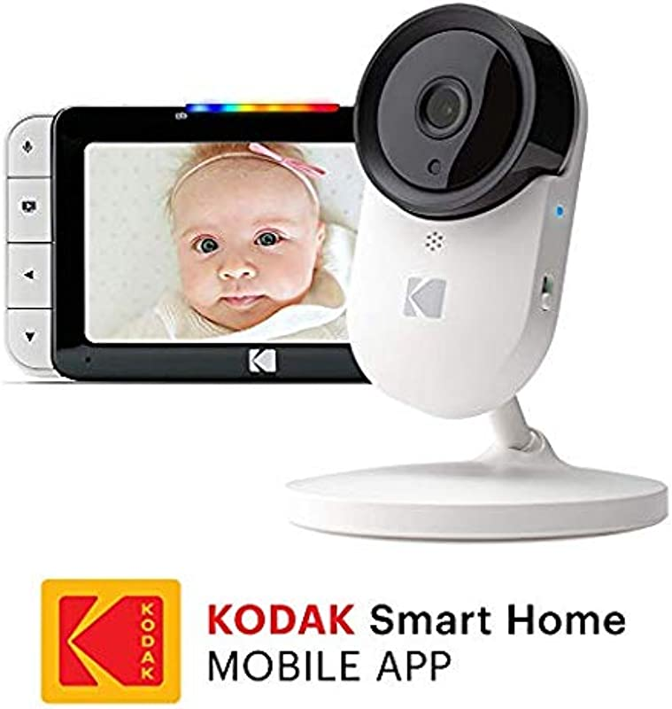 KODAK Cherish C520 Video Baby Monitor With Mobile App 5 HD Screen Hi Res Baby Camera With Remote Zoom Two Way Audio Night Vision Long Range WiFi Indoor Camera Smart WiFi Baby Monitor
