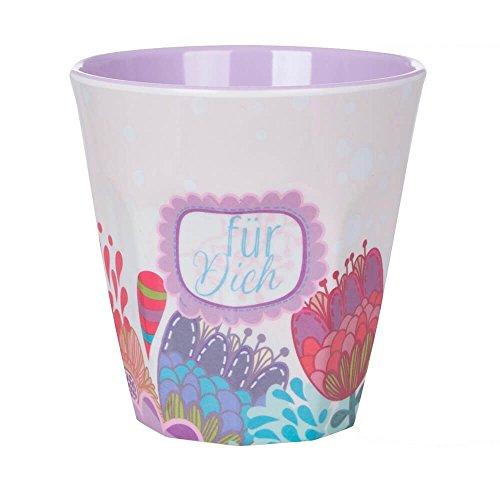 Overbeck and Friends Jule für Dich - Vaso de melamina (250 ml), color lila, lila y multicolor
