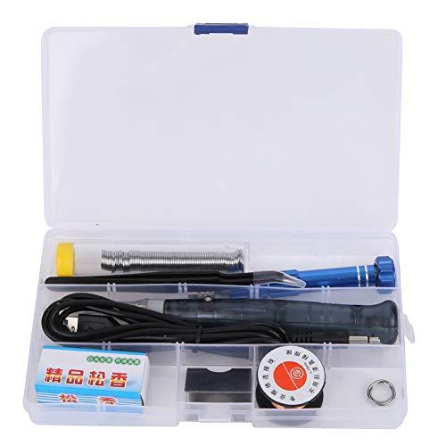 Kit de soldador eléctrico Mini bolígrafo de soldador USB portátil 5V 8W, juego de soldador de temperatura ajustable para mantenimiento doméstico y electrónico