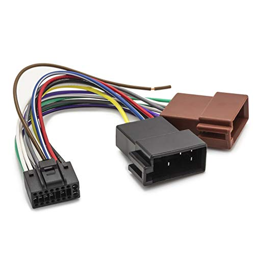 Adapter Universe DIN ISO Auto Radio Adapter 16 Pin Kabelbaum kompatibel mit JVC