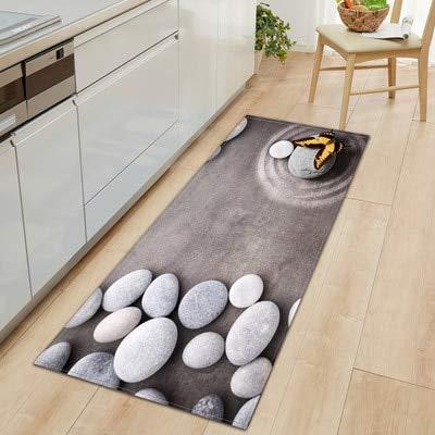 OPLJ 3D Küche Anti-Rutsch-Matte Bad Teppich Bodenmatte Haupteingang Fußmatte Saugfähig Wohnzimmer Fußmatten Küchenteppich A4 40x60cm