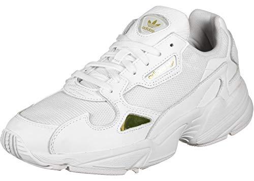 adidas Falcon W, Zapatillas para Mujer, Multicolor (FTWR White/FTWR White/Gold Met. Ee8838), 39 1/3 EU