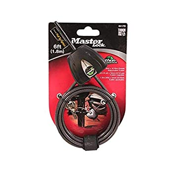 DLC Covert Python Security Cable 3/16 in 6 ft 1 pk Black