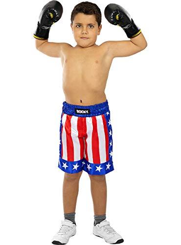 Funidelia | Pantaln de Rocky Balboa Oficial para nio Talla Rocky Balboa, Pelculas & Series, Boxeo, Profesiones - Multicolor, Accesorio para Disfraz