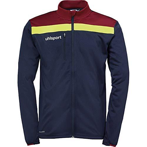 uhlsport Herren Jacke Offense 23 Jacke, marine/Bordeaux/Fluo Gelb, XXL, 100519813