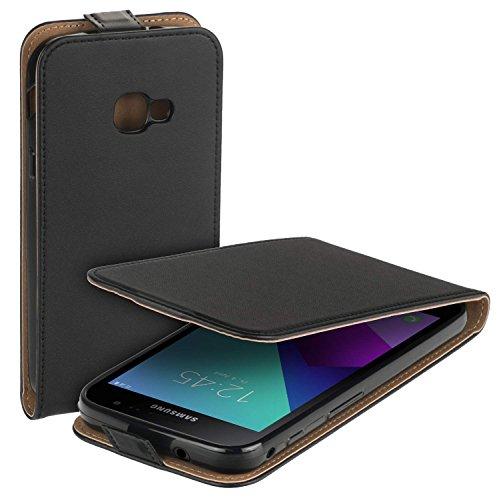 yayago Flip Tasche für Samsung Galaxy Xcover 4 / 4s Schutzhülle Flip Hülle Hülle Klapphülle Schwarz