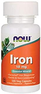 Now Foods Iron Essential Mineral 18 mg, 120 Capsules