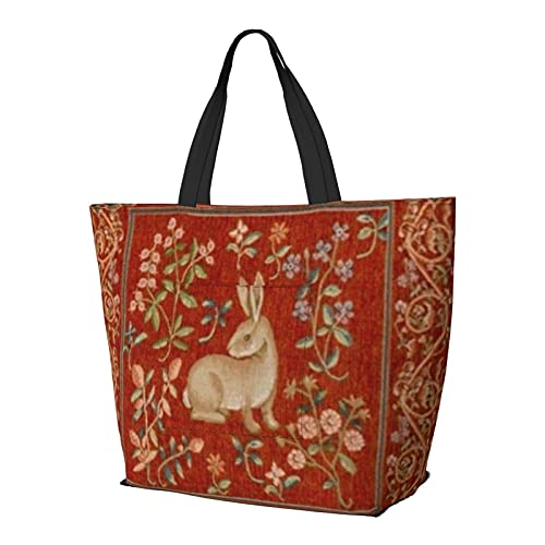 Bolso de hombro con cojín de tapicería vintage, multifuncional, de gran capacidad, bolso de tableta, ligera, bolsa de trabajo, bolsa de viaje, bolsa de playa para mujer