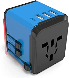 Universal International Travel Power Adapter, 4USB + Type-cPD Wall Charger, European Adapter, AC Wall Plug Adapters – Al...