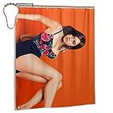 Aubrey Plaza Shower Curtains 60x72 Inch Polyester Fabric Bathroom Decorations Bath Curtains Hooks Included Iron