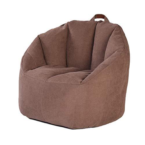 AGVER Sitzsack Bezug Sitzsackhülle Abdeckung Ohne Füllung - Aus Polyester-Lintergewebe Geeignet Für Erwachsene Und Kinder,Braun