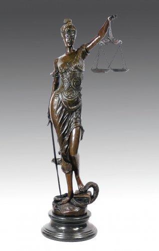 Kunst & Ambiente XXL Justitia - Göttin der Gerechtigkeit - signiert Mayer - Justitia Skulptur Kaufen