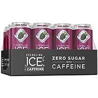 12-Pack Sparkling Ice + Caffeine Black Raspberry Sparkling Water 16 Fl Oz