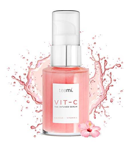 Teami® Topisches Vitamin C Serum - 1 Fl oz. mit Hyaluronsäure, Kollagen und Vitamin E Öl