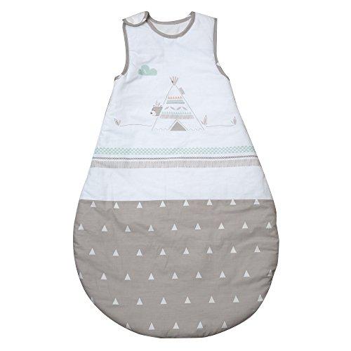 roba Schlafsack, 90cm, Babyschlafsack ganzjahres/ganzjährig, aus atmungsaktiver Baumwolle, Baby- und Kleinkindschlafsack unisex, Kollektion 'Indi Bär'