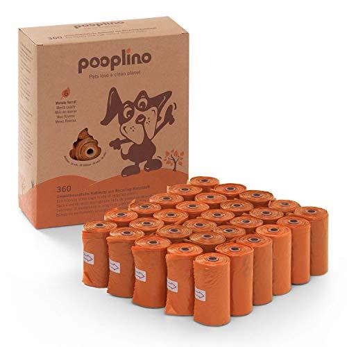 pooplino 360 Hunde-Kotbeutel aus Recycling-Kunststoff – verbesserte Version – extra groß, extra fest und auslaufsicher – die umweltfreundliche Alternative zu biologisch abbaubaren Bio-Gassibeuteln