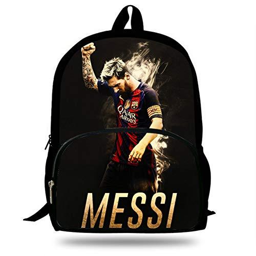 Mochilas Infantiles 16 Pulgadas Niños Messi Fútbol Super Star Impresión Mochilas Escolares para Adolescentes Mochila Mochila Niños Niñosbolsa De Libro Diario