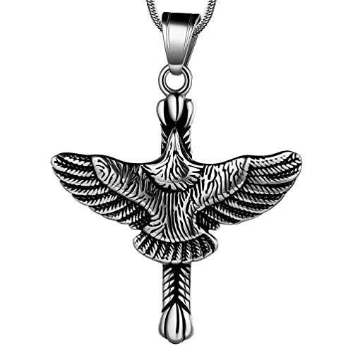 Cross Halskette Herren Eagle 316L Edelstahl Cross Hawk Hiphop Anhänger Herren Schmuck SP0005G