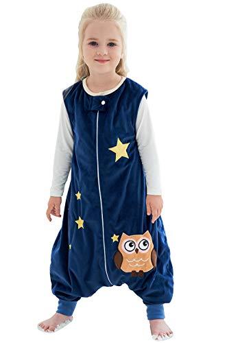 Happy Cherry Strampler Baby Winter Flanell Spieler Overall Fleece Fuß Spielanzug Onesies Jumpsuit Cartoon Overall für Baby Mädchen Jungen-Dunkelblau-1-3 Jahre Alt