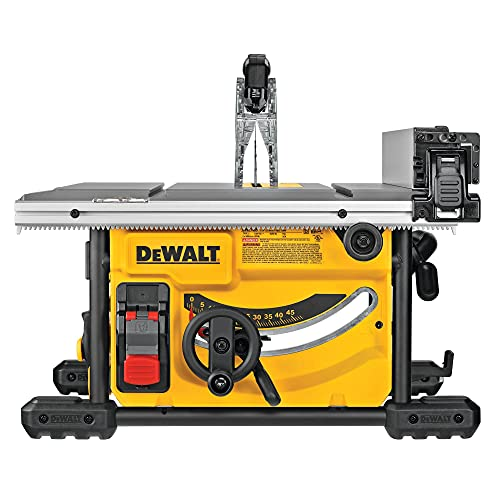 DEWALT - Scie à Table Compacte 210 mm - DWE7485-QS - Scie sur Table Filaire 1850 W - Idéale pour Coupe de Pièces de Grandes Tailles - Largeur de Coupe 622 mm