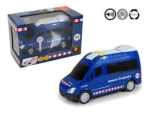 PLAYJOCS Furgón de Mossos con luz, Sonido y fricción GT-4817