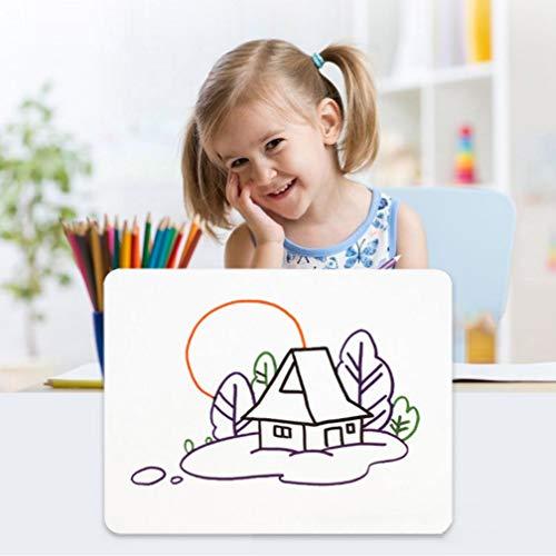 Pizarra blanca pequeña de borrado en seco para niños, portátil, pizarra blanca de doble cara, para estudiantes, para aprender a...