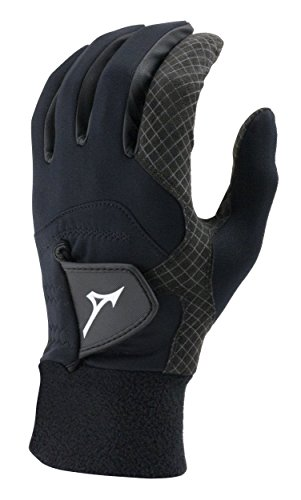 Mizuno 2018 ThermaGrip Men's Golf Glove, Pair, Black, X-Large