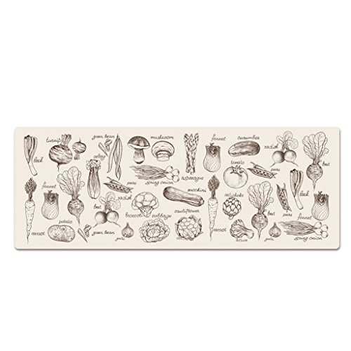 ENVI Amour Lot de tapis de la porte de porte de Hall de cuisine de salle de bain Ottomans Tapis antidérapant étanche aux Huiles ménagers de salle de bain Tapis Tapis de terre, PVC, b, 80*45cm