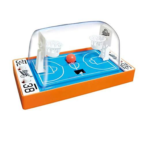 Luccase Desktop Basketball Spiel Eltern-Kind Interaktionsspiel Mini Finger Basketball Shooting Game Handheld Desktop Basketball Spielzeug für Kinder, 16x8x9cm (Orange)