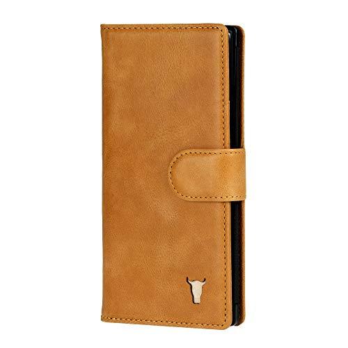 TORRO Leren Portemonnee Hoes Compatibel met Samsung Galaxy Note 10 Plus (Lichtbruin)