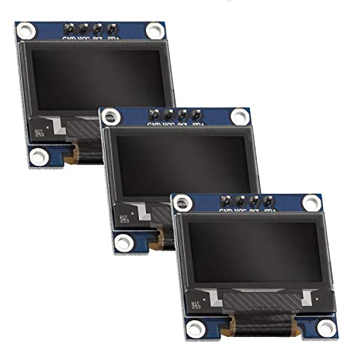 AZDelivery 0.96-inch OLED I2C White Character Display 128x64 Pixels Compatible with Arduino and Raspberry Pi Including E-Book! (Pack of 3)
