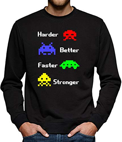 TShirt-People Harder Better Faster Stronger Sweat-Shirt pour Homme - Noir - X-Large