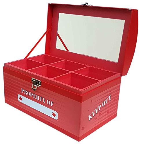 Treasure Chest Box - Laser Red