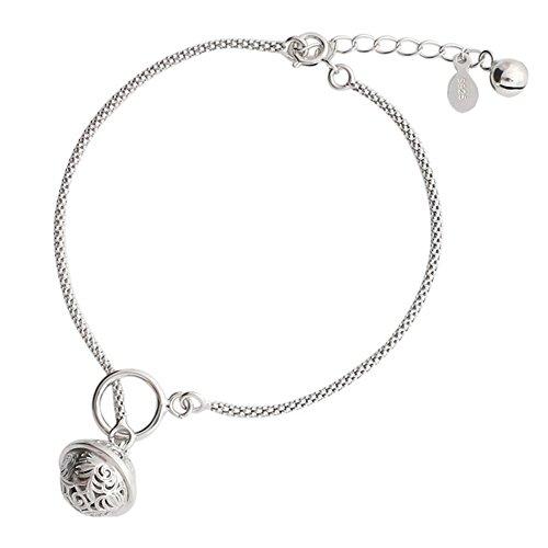Helen de Lete Original Little Jingle Bell 925 Sterling Silver Anklet