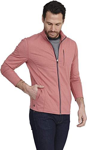 UNTUCKit Tai Rosso – Men's Workout Sweatshirt Gym Sports Full Zip Jacket Mars Red X-Large-Regular Fit