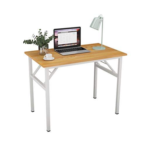 SogesHome Mesa de Escritorio Plegable para computadora 100 x 60 x 75 cm Escritorio para computadora Escritorio de...