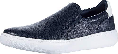 Calvin Klein Men's Slip ON Sneaker, Dark Navy, 9.5