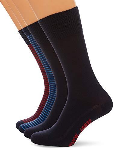 Levi's Herren LEVIS AW18 GIFTBOX REGULAR CUT 4P Socken, Mehrfarbig (Navy/Red 831), 43/46 (4er Pack)