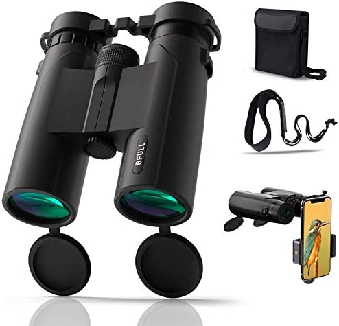 BFULL 10x42 Compact Binoculars for Adults Powerful Binoculars with 21mm Large View Eyepiece product image