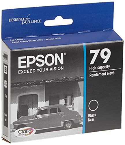 EPSON T079 Claria Hi-Definition Ink Standard Capacity Black Cartridge (T079120) for select Epson Artisan Photo Printers
