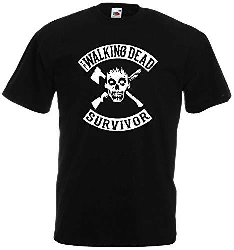 World of Shirt Zombie Survivor T-Shirt Herren Horror Shirt