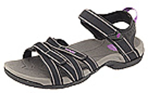 Teva Women's Tirra Sandal,Black/Grey,9.5 M US